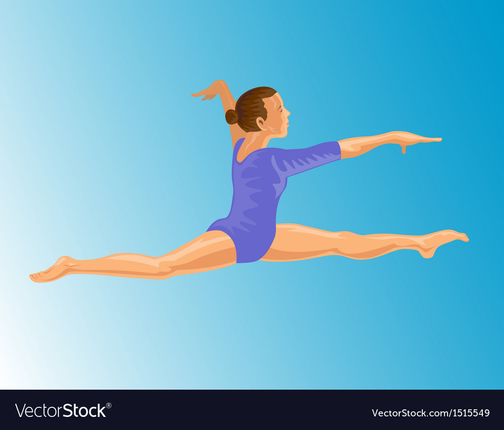 Gymnast jumping split vector | Price: 1 Credit (USD $1)