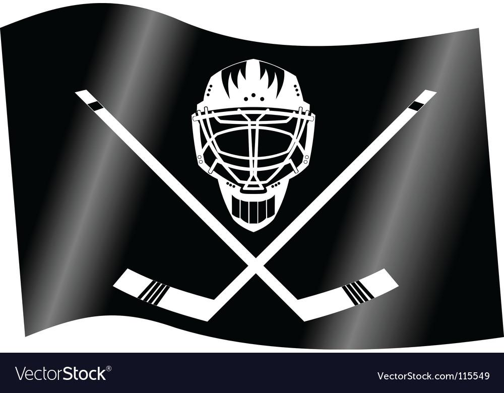 Hockey flag vector | Price: 1 Credit (USD $1)