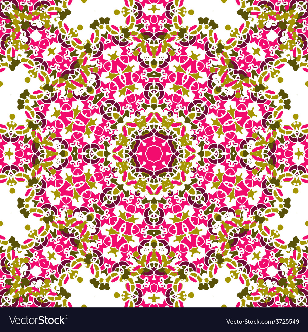 Pink coloured mandala like design seamless vector | Price: 1 Credit (USD $1)