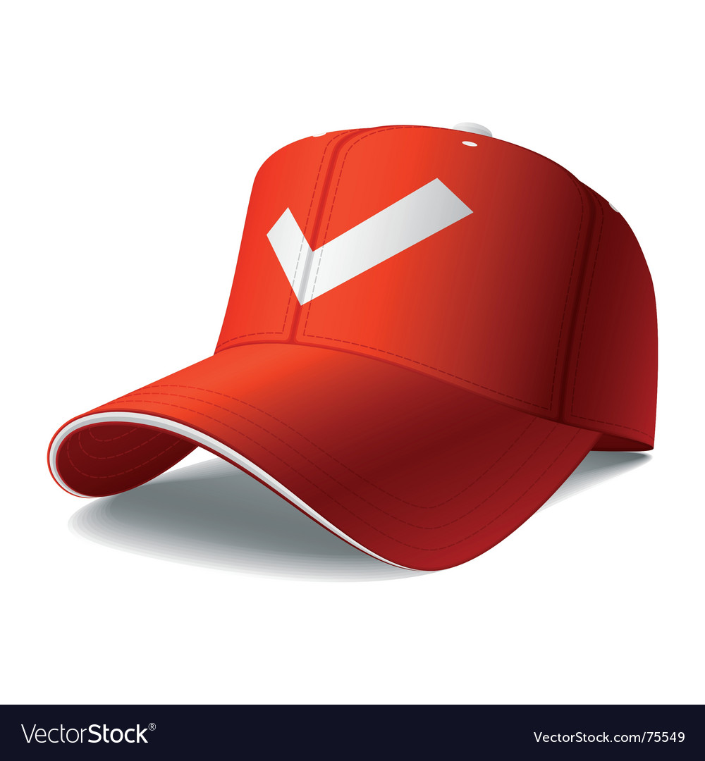 Red cap vector | Price: 1 Credit (USD $1)