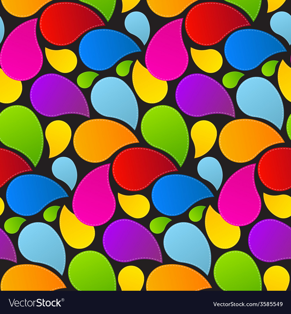 Seamless liquid colorful retro background vector | Price: 1 Credit (USD $1)