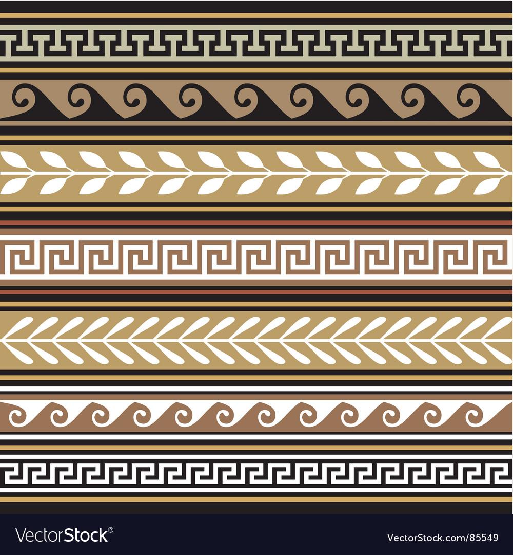 Set of geometric borders vector | Price: 1 Credit (USD $1)
