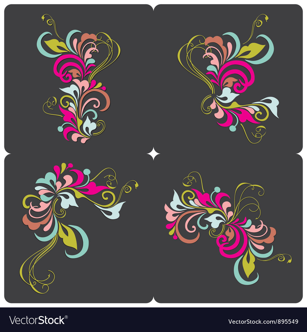 Set of vintage card vector | Price: 1 Credit (USD $1)