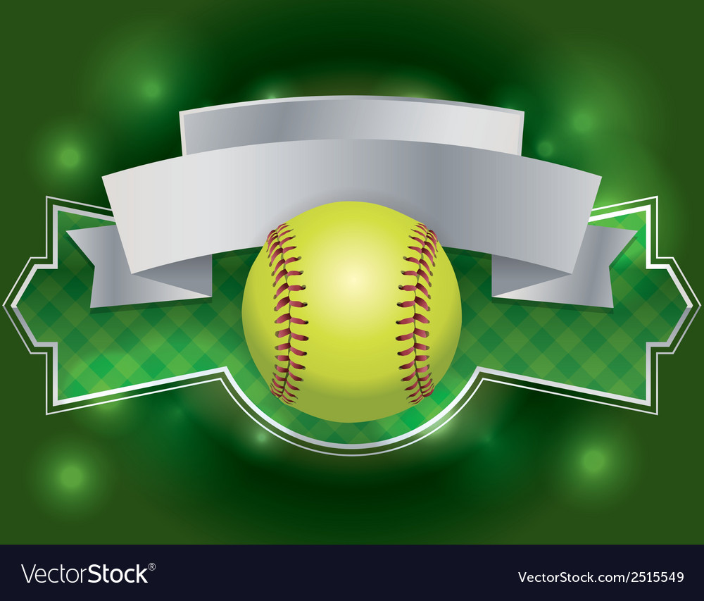 Softball banner vector | Price: 1 Credit (USD $1)