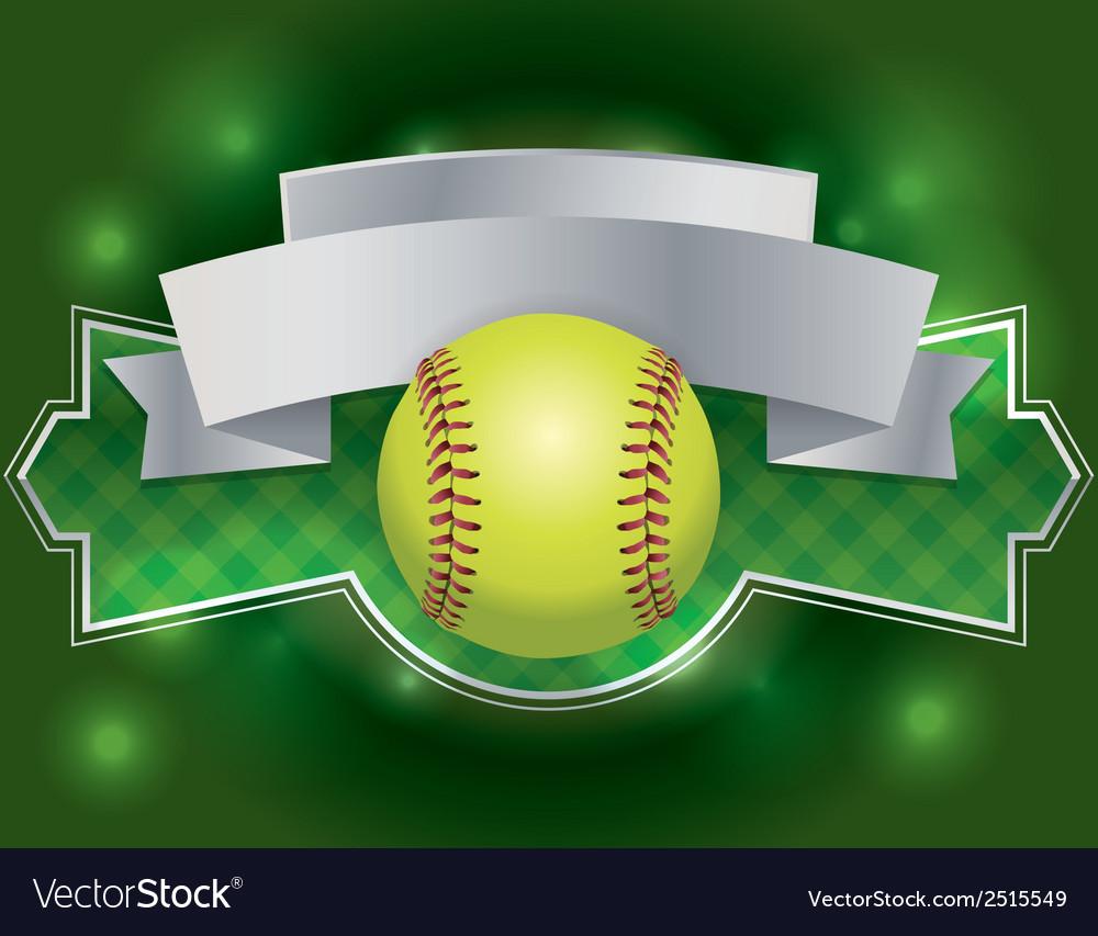 Softball banner vector | Price: 1 Credit (USD $1)