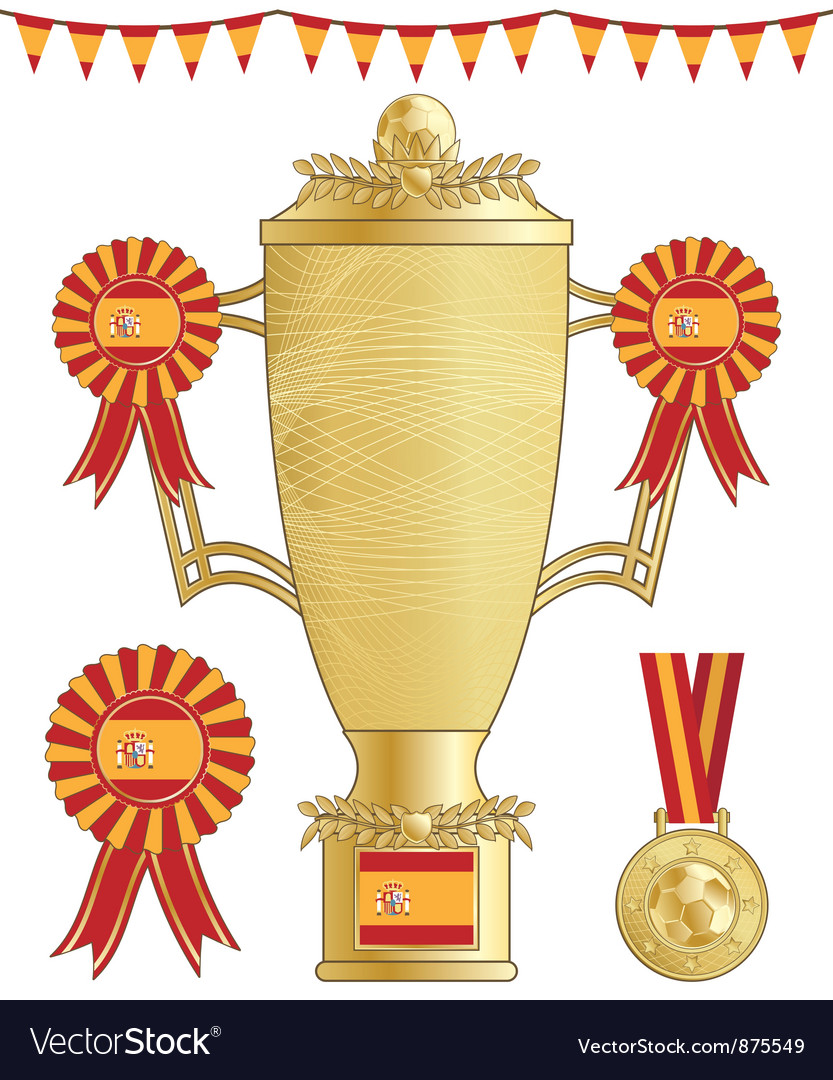Spain football trophy vector | Price: 1 Credit (USD $1)