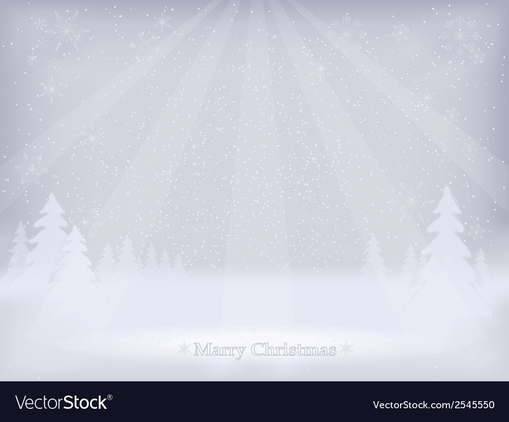 Abstract winter landscape background vector | Price: 1 Credit (USD $1)