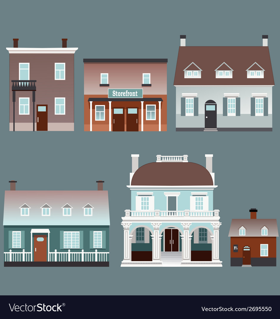 Assorted buildings vector | Price: 1 Credit (USD $1)
