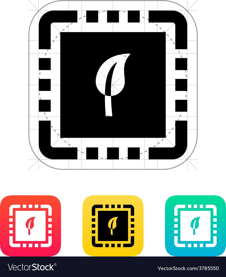 Eco cpu icon vector | Price: 1 Credit (USD $1)