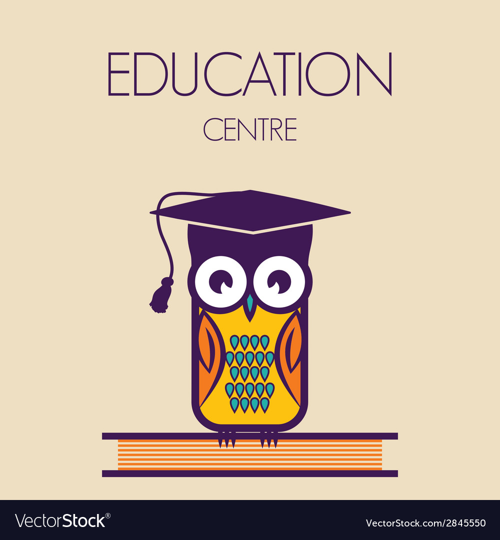 Education owl vector | Price: 1 Credit (USD $1)