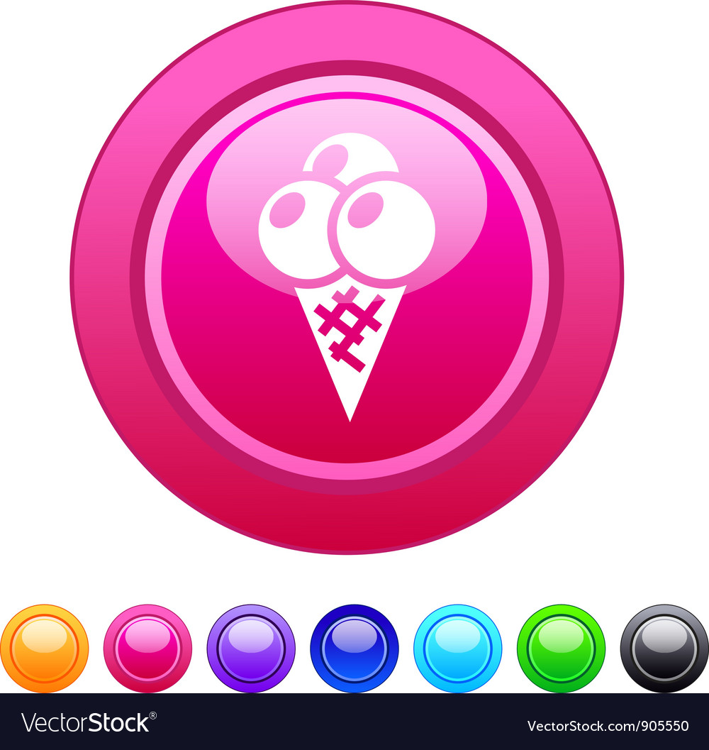 Icecream circle button vector | Price: 1 Credit (USD $1)