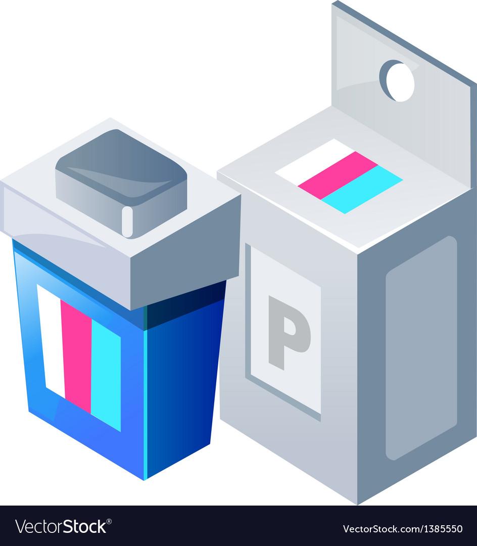Icon printer ink vector | Price: 1 Credit (USD $1)