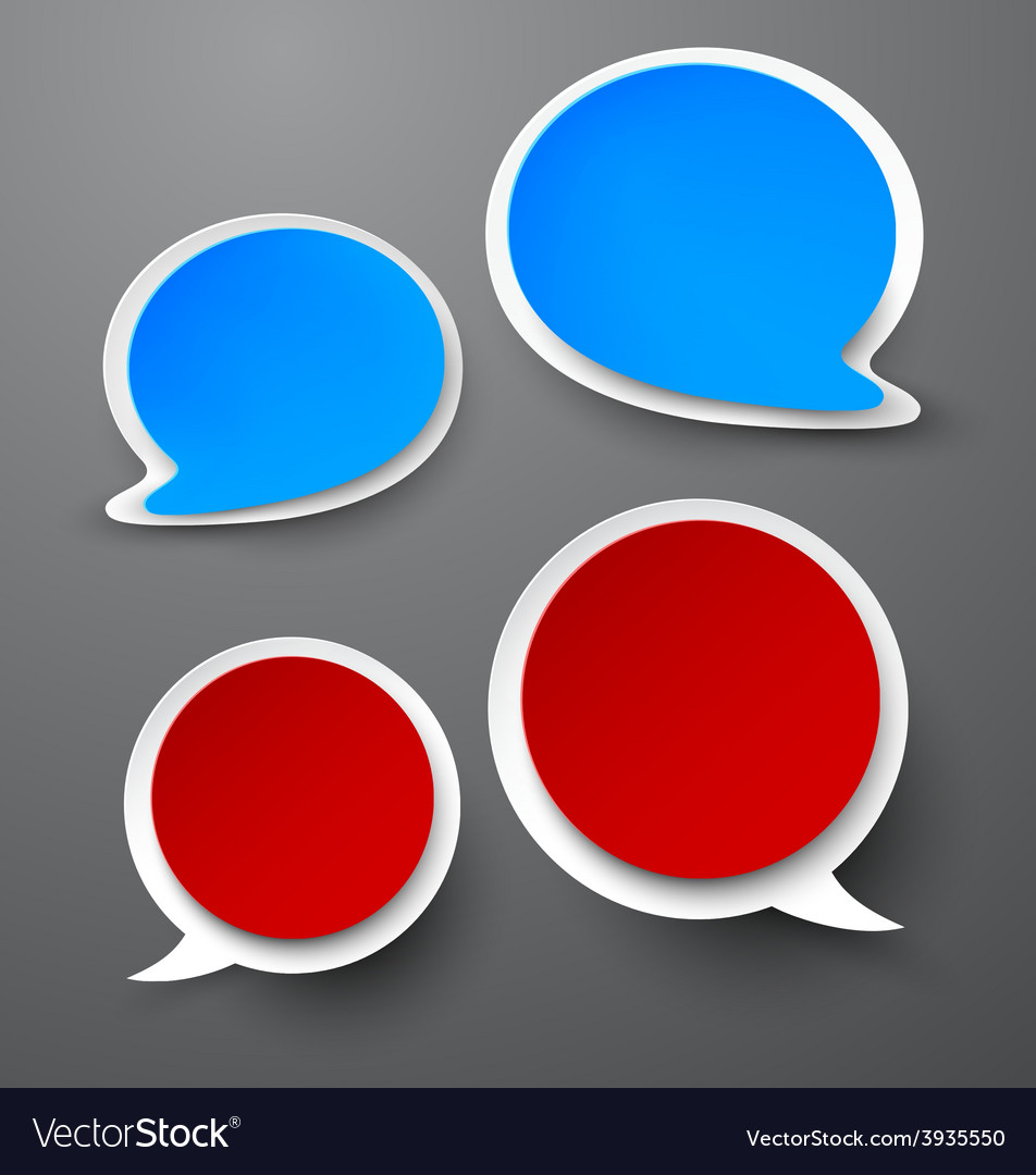 Paper set of rounded speech bubble vector | Price: 1 Credit (USD $1)