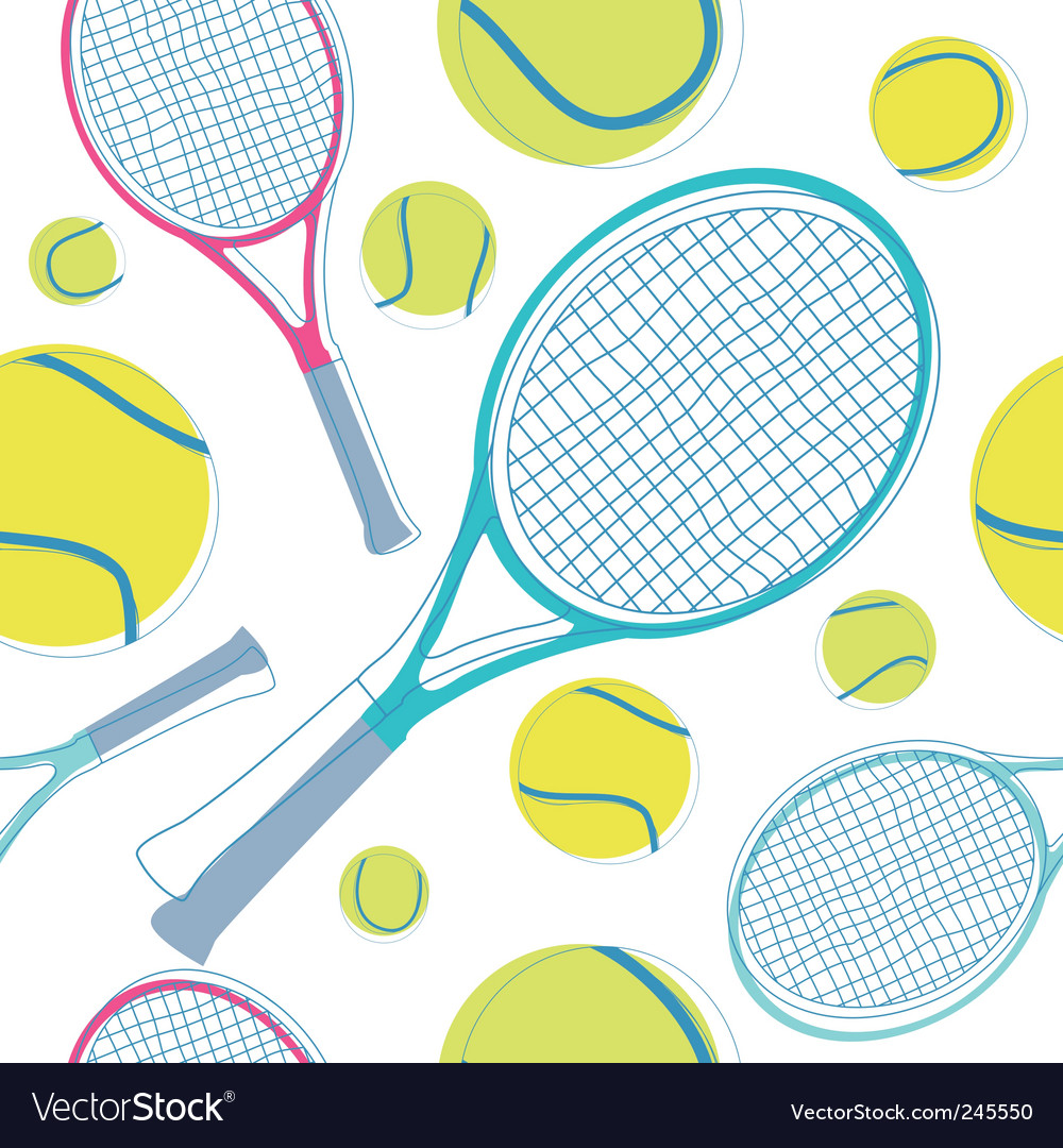 Tennis pattern vector | Price: 1 Credit (USD $1)