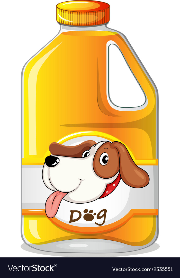 A galon of dog soap vector | Price: 1 Credit (USD $1)