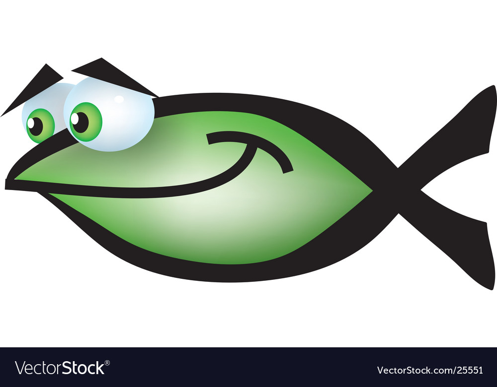 Christian cartoon fish vector