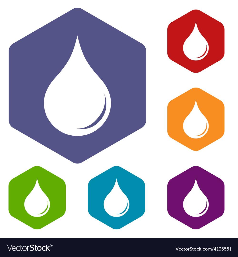 Drop rhombus icons vector | Price: 1 Credit (USD $1)