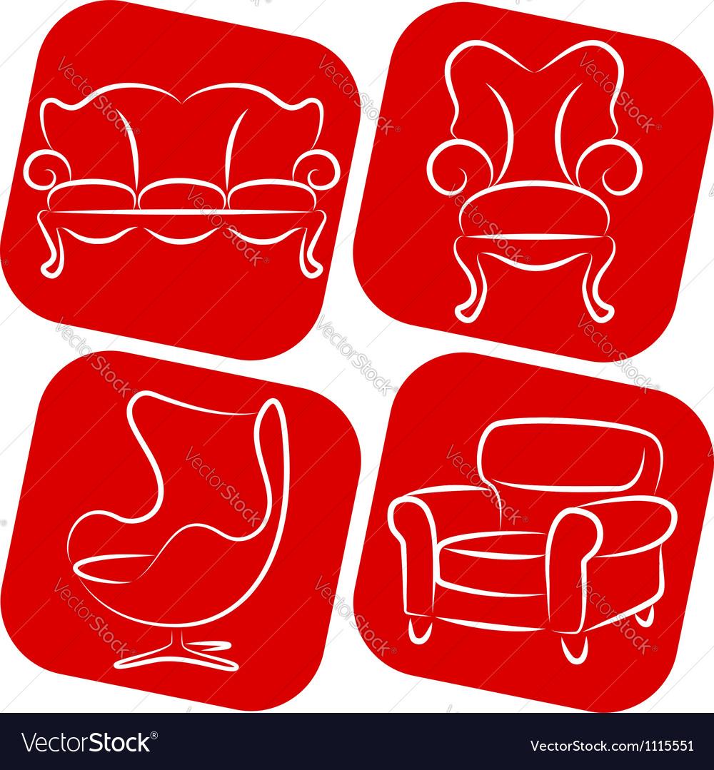 Furniture elements vector | Price: 1 Credit (USD $1)