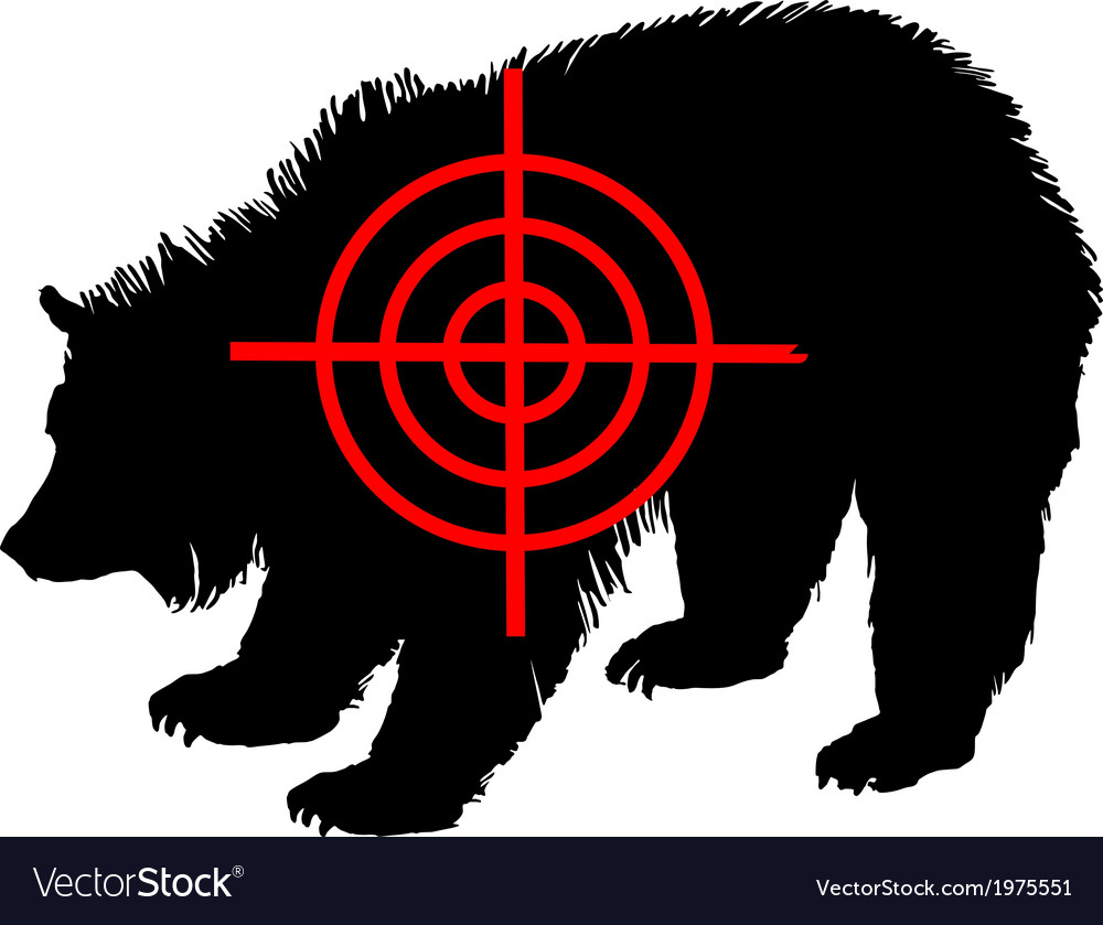 Grizzly bear crosshair vector | Price: 1 Credit (USD $1)