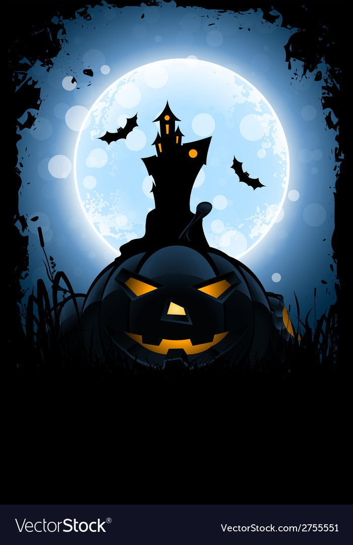 Grungy halloween card vector | Price: 1 Credit (USD $1)