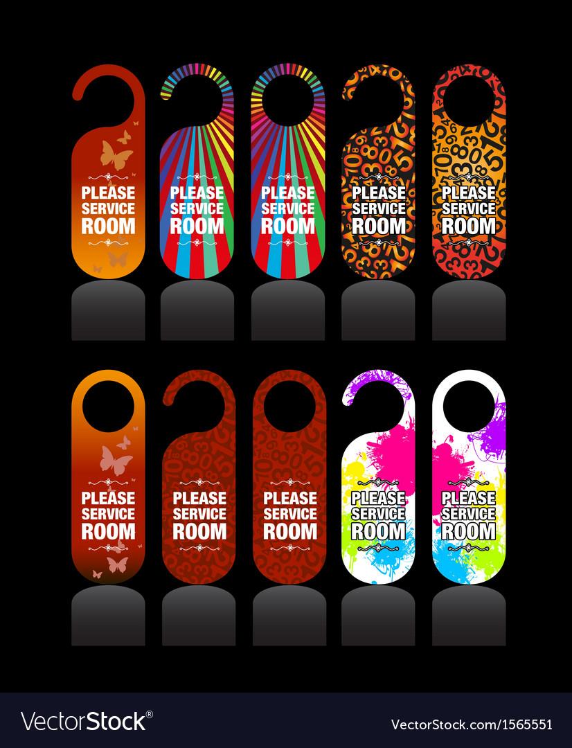 Hotel door signs vector | Price: 1 Credit (USD $1)