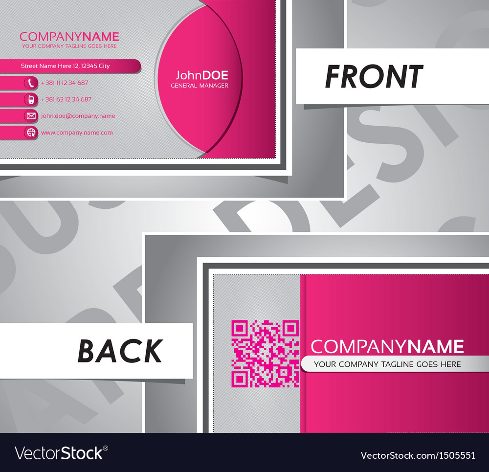 Modern business card circle template vector | Price: 1 Credit (USD $1)