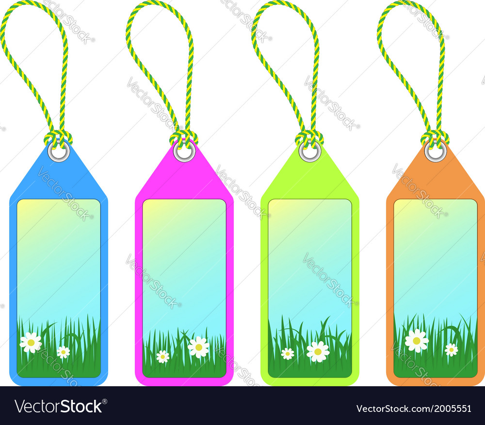 Spring tags vector | Price: 1 Credit (USD $1)