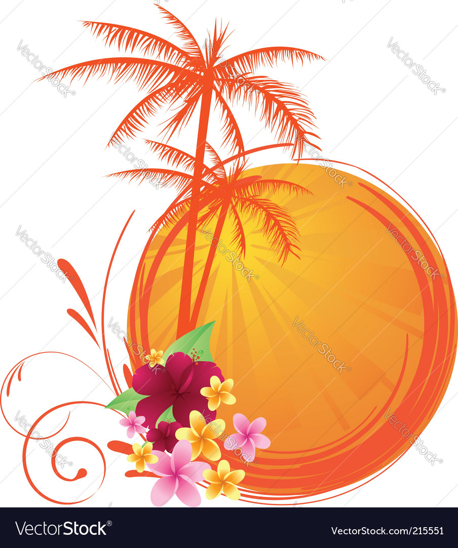Summer sunset vector | Price: 1 Credit (USD $1)