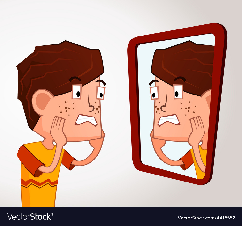 Boy with acne problem vector   Price: 3 Credit (USD $3)