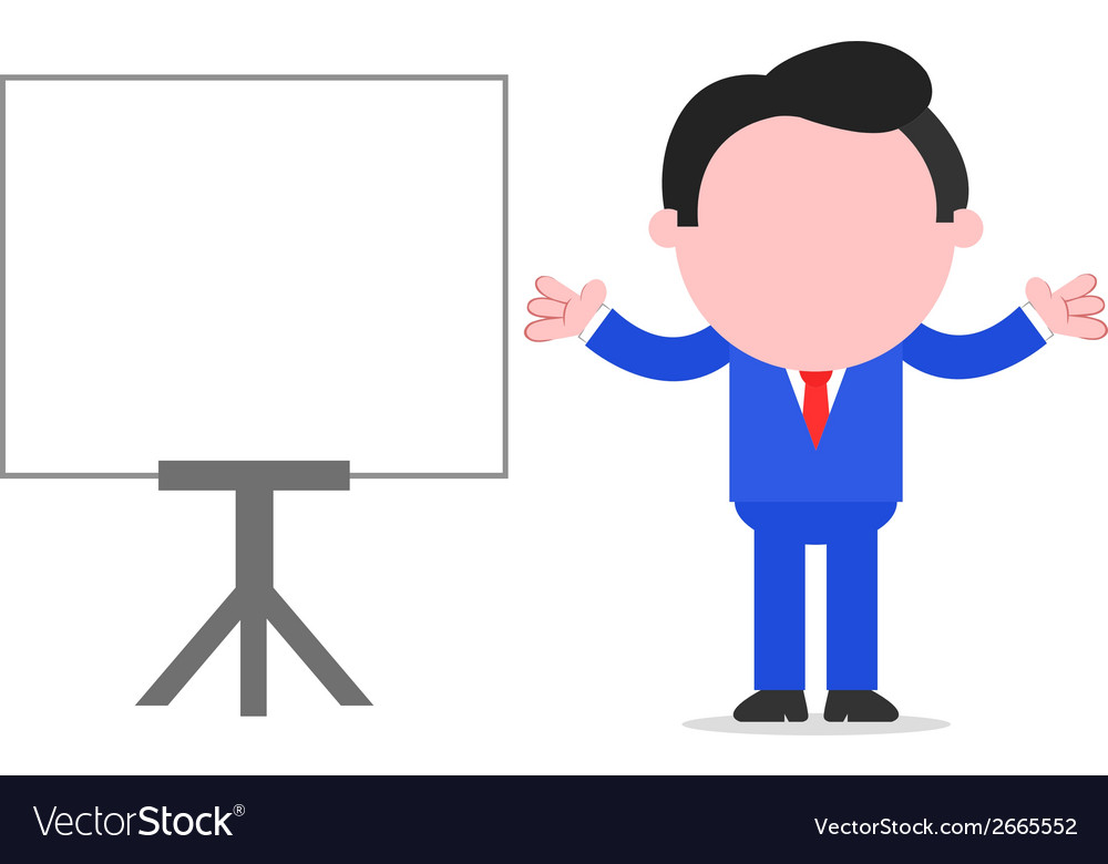 Businessman gesturing beside chart vector | Price: 1 Credit (USD $1)