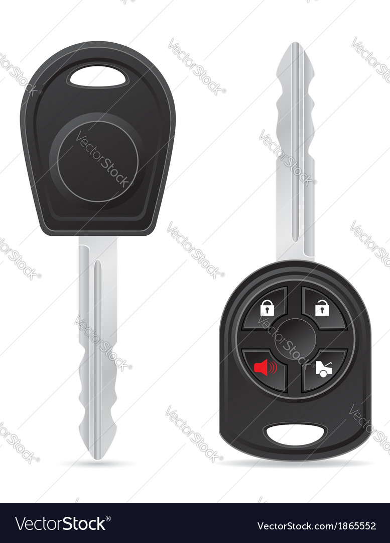 Car key 03 vector | Price: 1 Credit (USD $1)