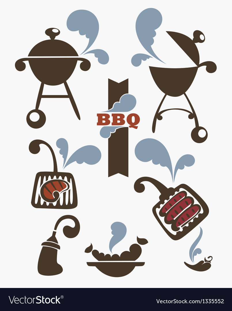 Collection of bbq symbols vector   Price: 1 Credit (USD $1)