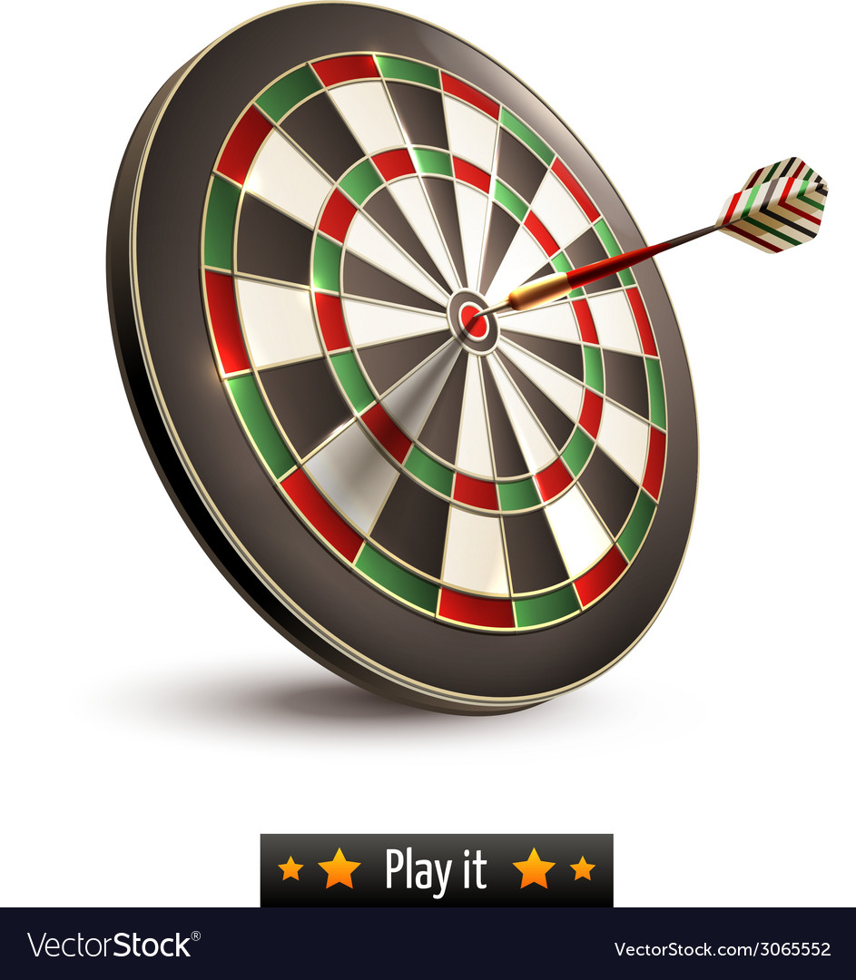 Darts board isolated vector | Price: 1 Credit (USD $1)