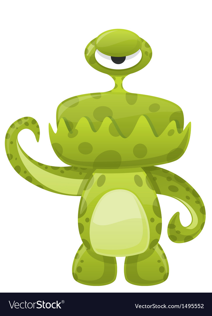 Green slime monster vector | Price: 1 Credit (USD $1)