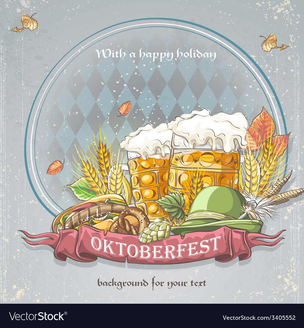 Image festive oktoberfest background for your text vector | Price: 1 Credit (USD $1)