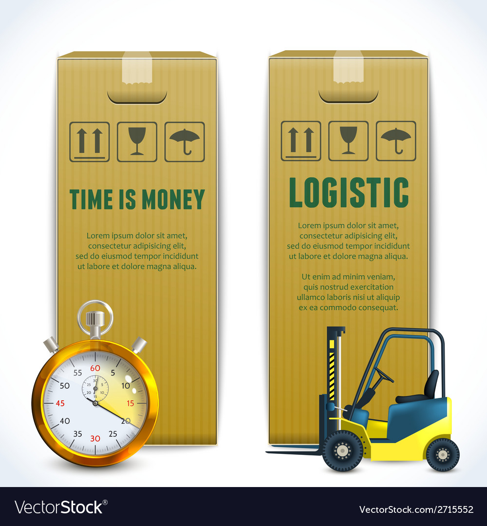 Logistic vertical banners vector | Price: 1 Credit (USD $1)