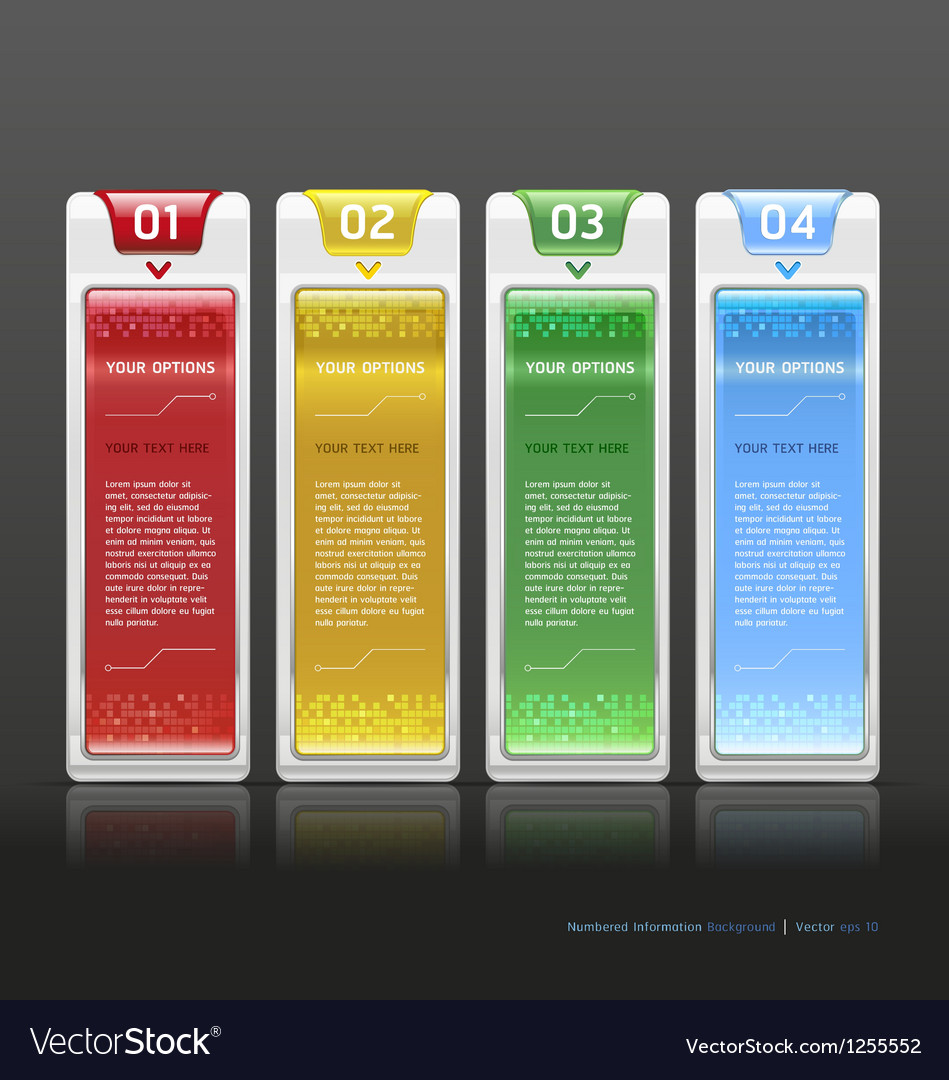 Modern web design white template vector | Price: 1 Credit (USD $1)
