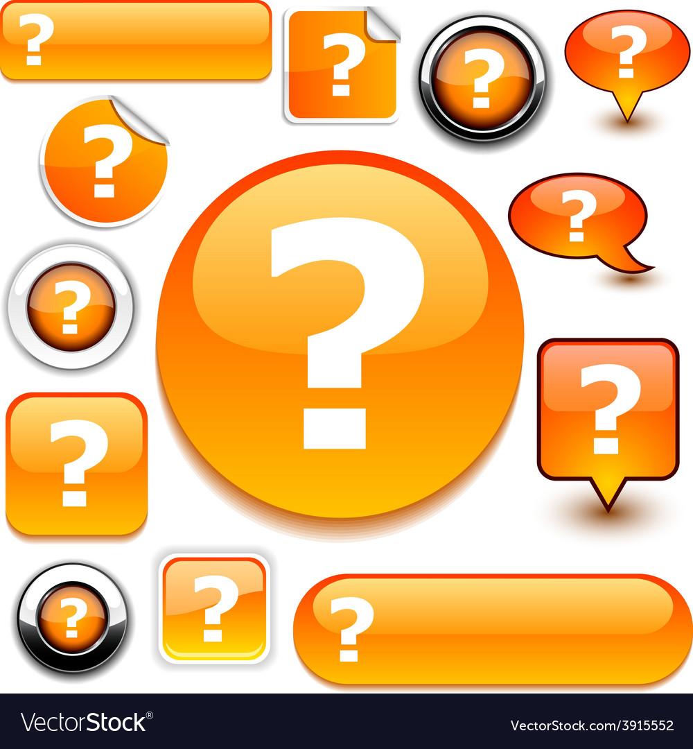 Question orange signs vector | Price: 1 Credit (USD $1)