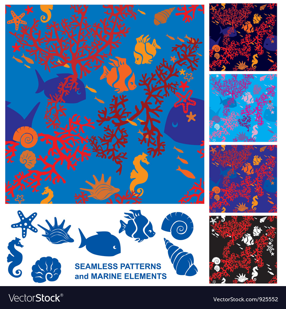 Seamless coral reef vector | Price: 1 Credit (USD $1)