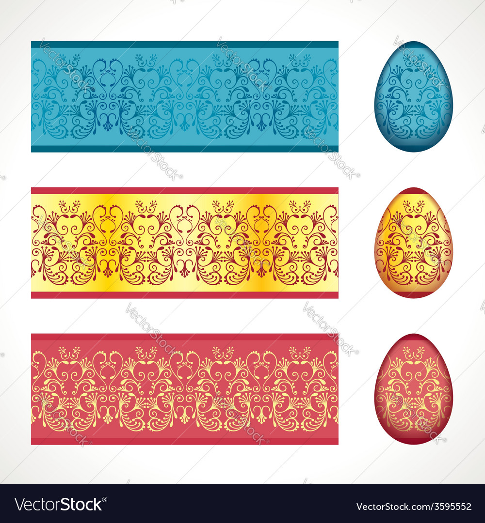 Seamless easter frieze vector | Price: 1 Credit (USD $1)