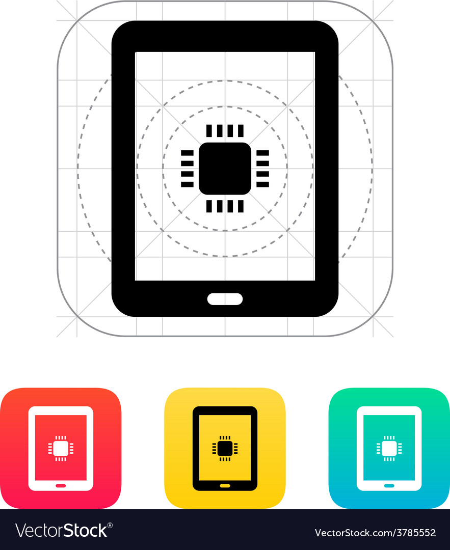 Tablet cpu icon vector | Price: 1 Credit (USD $1)