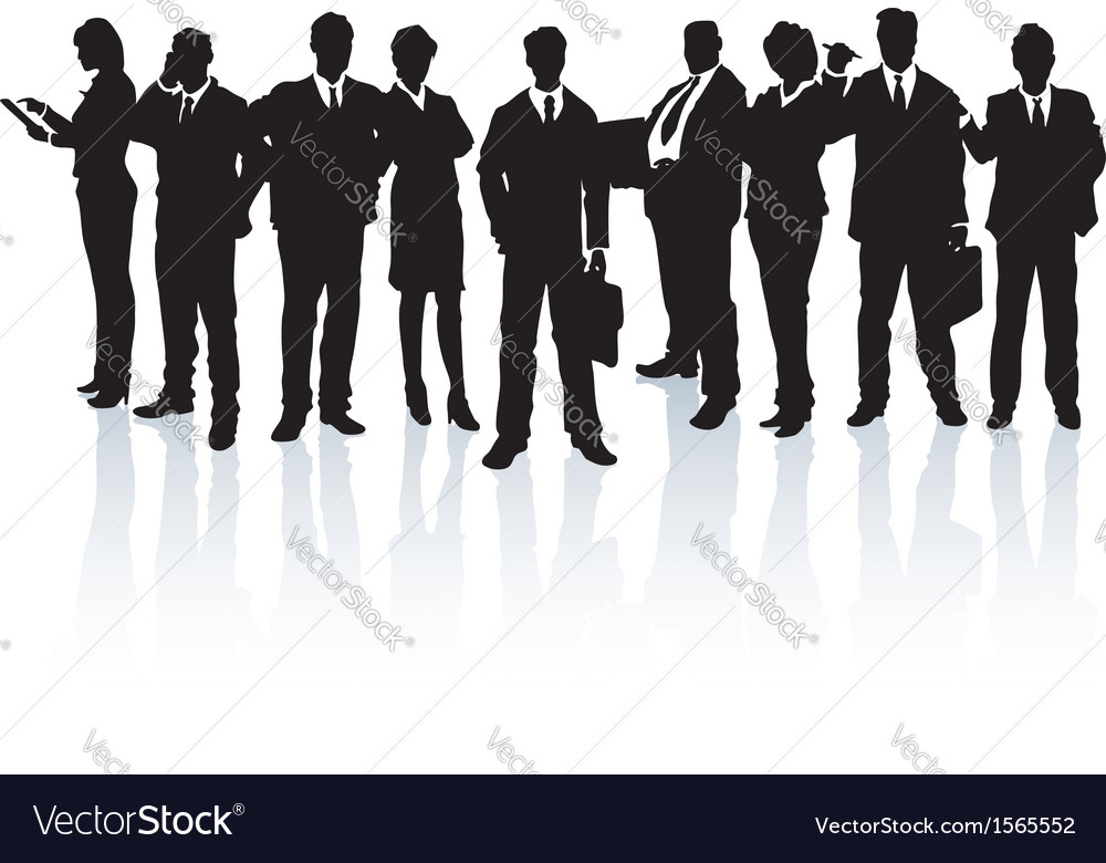Team of business people vector | Price: 1 Credit (USD $1)