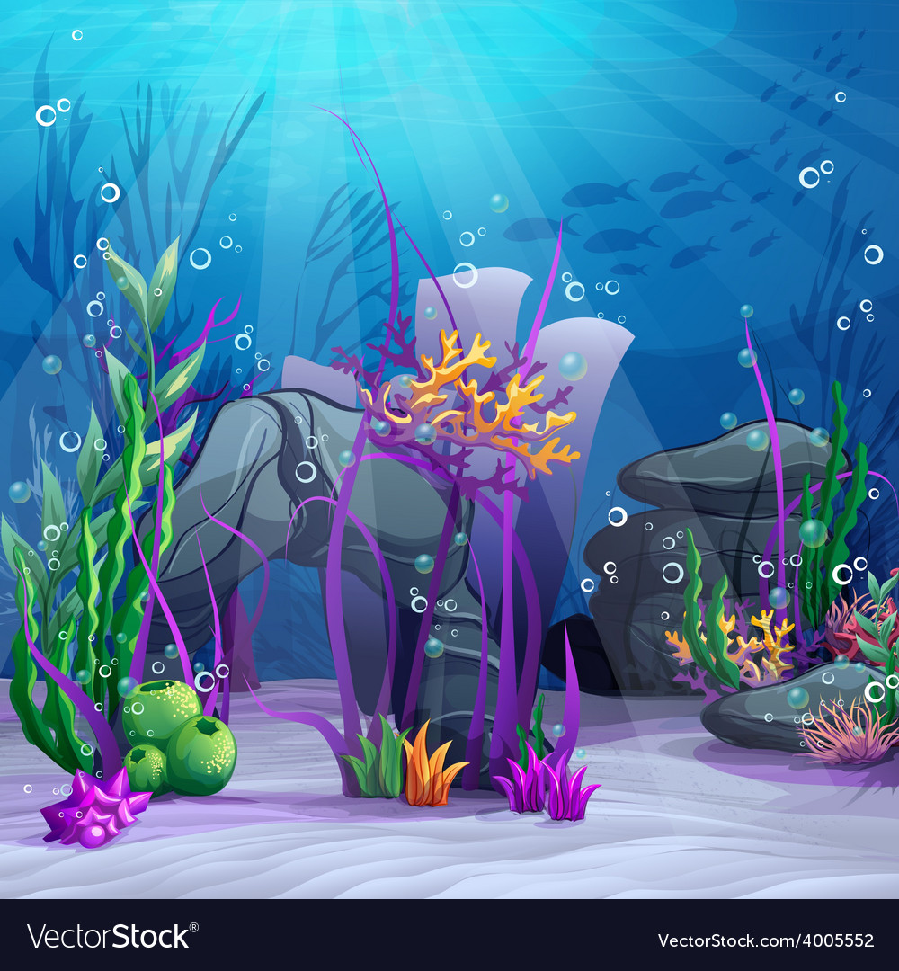 The underwater world vector | Price: 5 Credit (USD $5)