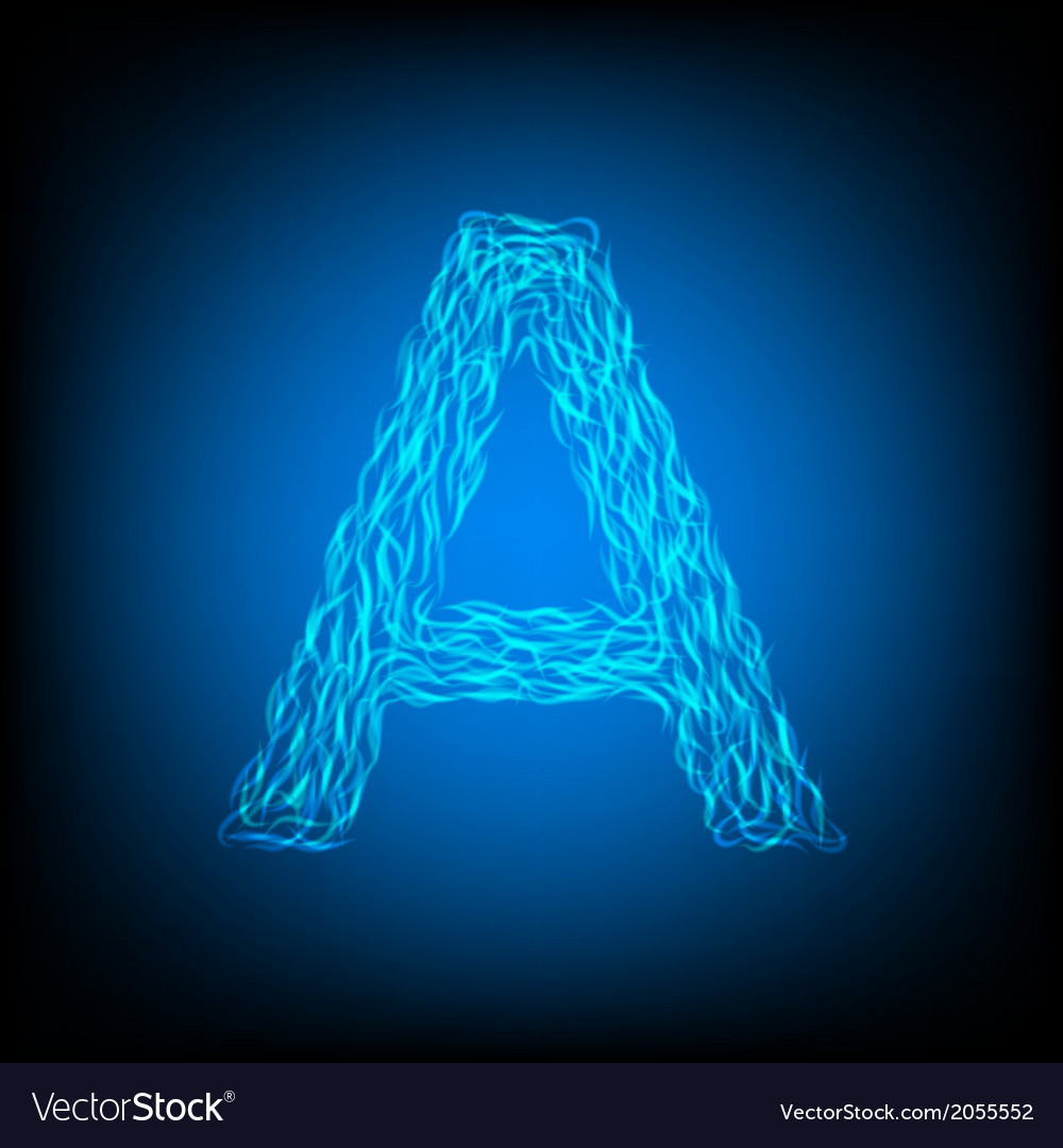 Water letter a vector | Price: 1 Credit (USD $1)