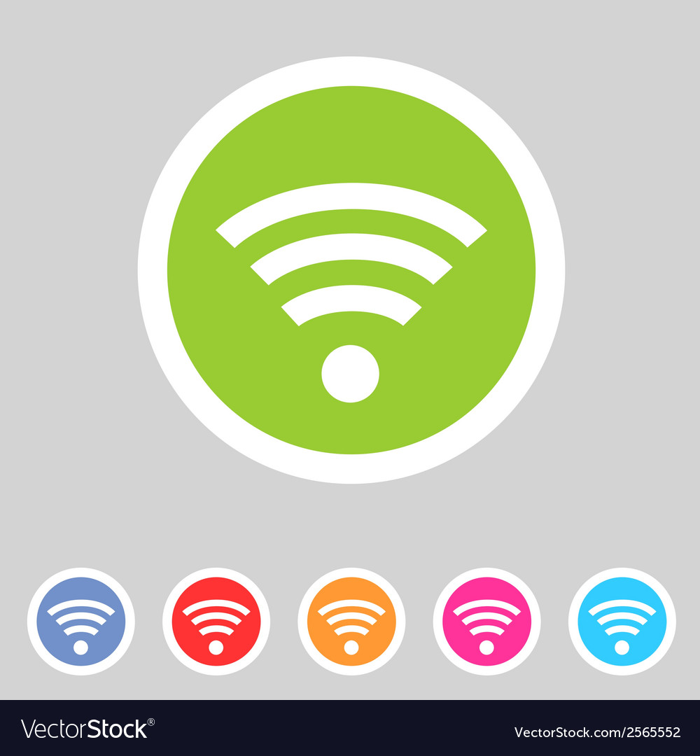 Wireless wifi flat icon vector | Price: 1 Credit (USD $1)