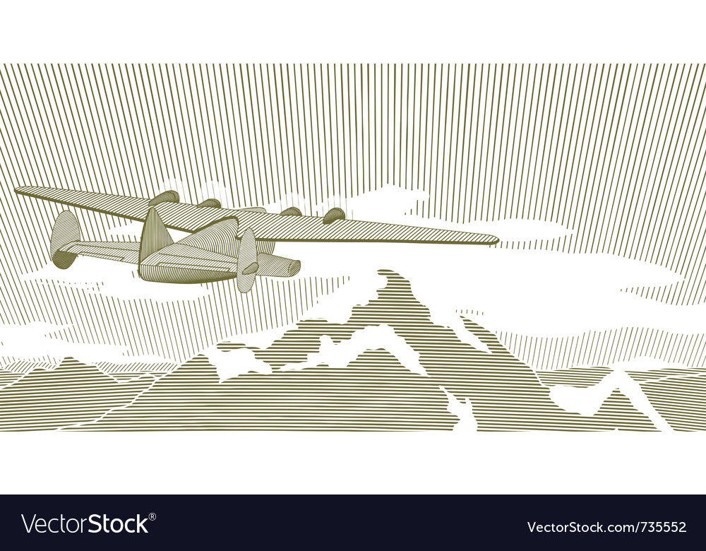 Woodcut clipper scene vector | Price: 1 Credit (USD $1)