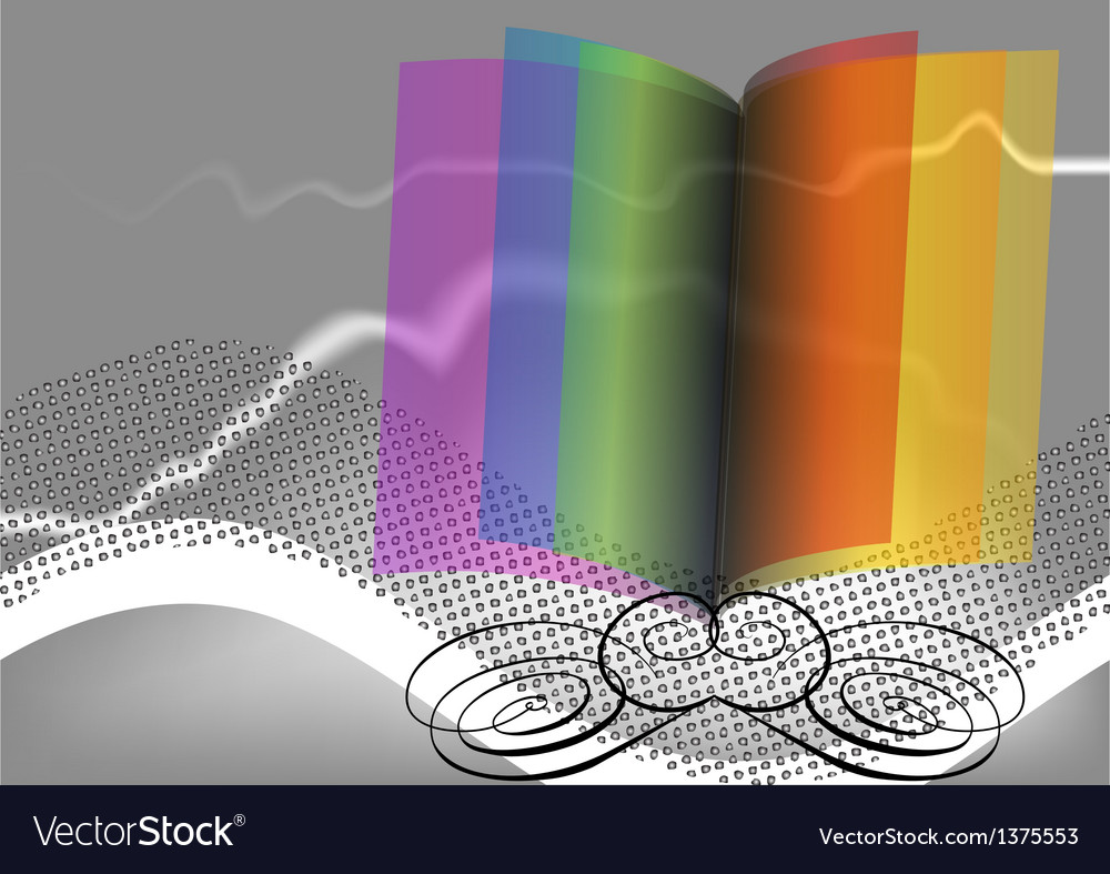 Abstract open book vector | Price: 1 Credit (USD $1)