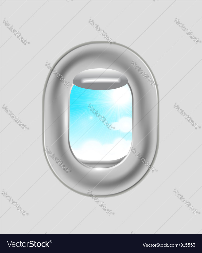 Airplane window vector | Price: 1 Credit (USD $1)