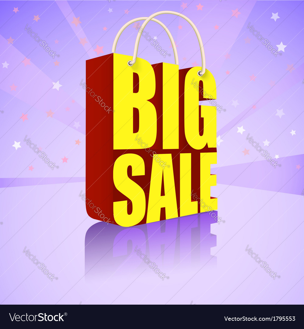 Big sale bright colorful banner for your business vector | Price: 1 Credit (USD $1)