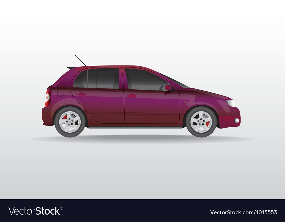 Car side view vector | Price: 1 Credit (USD $1)